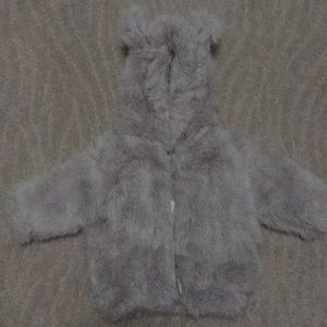 NWT RH Baby & Child luxe fur hooded coat - so cute
